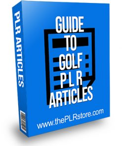 Guide to Golf PLR Articles