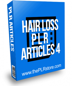 Hair Loss PLR Articles 4