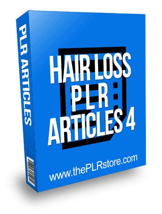 Hair Loss PLR Articles 4