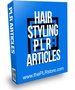 Hair Styling PLR Articles with Private Label Rights