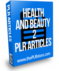 health and beauty plr articles