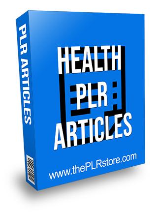 Health PLR Articles