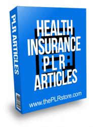 Health Insurance PLR Articles