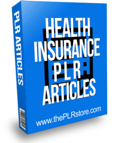 Health Insurance PLR Articles