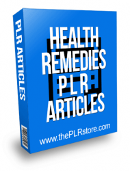 health remedies plr articles