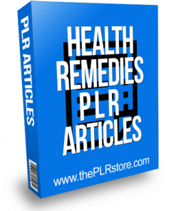 health remedies plr articles