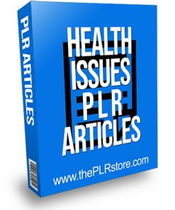 Health Issues PLR Articles