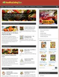 Healthy Eating PLR Website Amazon Store