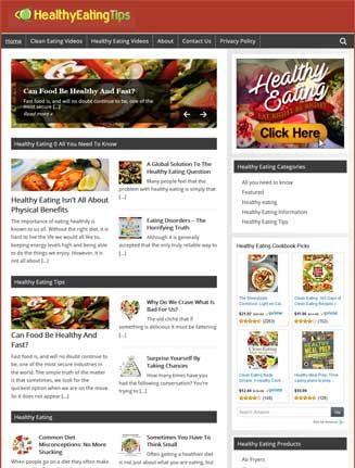 Healthy Eating PLR Website Amazon Store