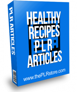 Healthy Recipes PLR Articles