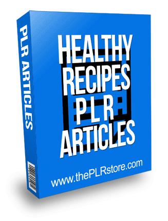 Healthy Recipes PLR Articles