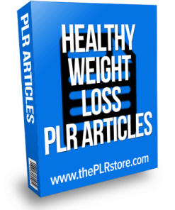 healthy weight loss plr articles