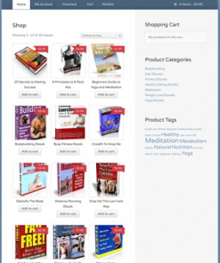 healthy digital product plr store