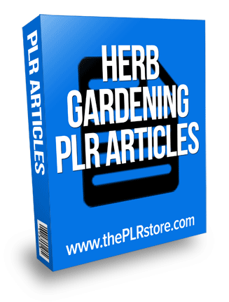 herb gardening plr articles
