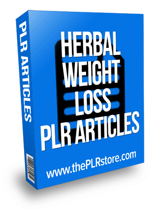 Herbal Weight Loss PLR Articles