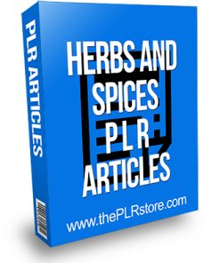 Herbs and Spices PLR Articles