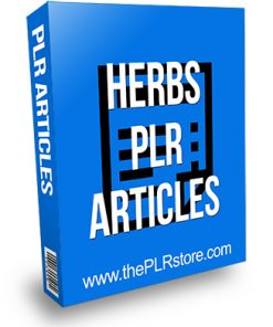 Herbs PLR Articles
