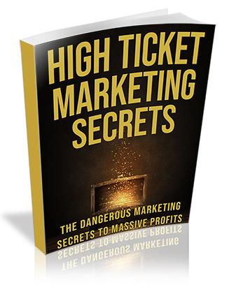 High Ticket Marketing Secrets PLR Ebook