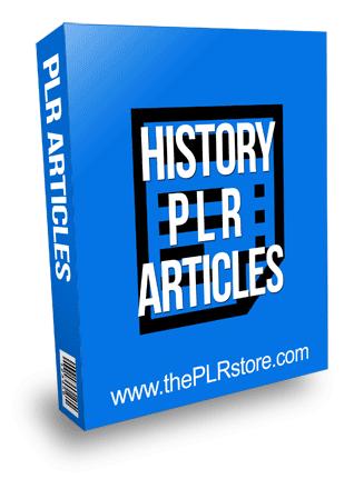 History PLR Articles