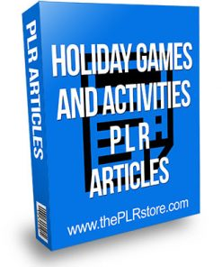 Holiday Games and Activities PLR Articles