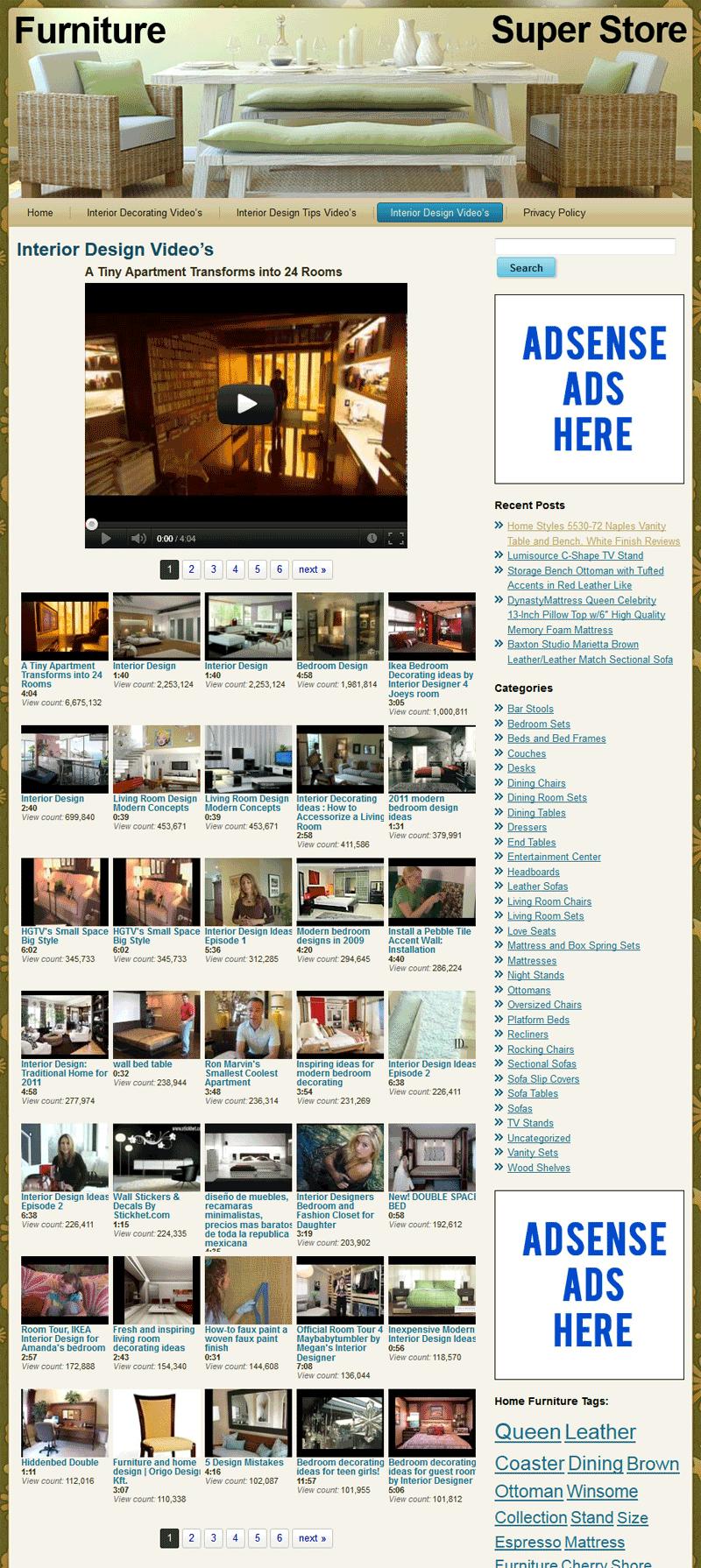 Home furniture plr amazon store website pre loaded Home furniture online websites