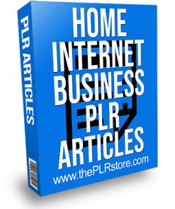 Home Internet Business PLR Articles