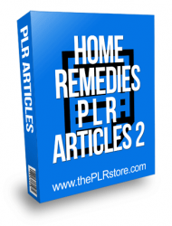 Home Remedies PLR Articles 2