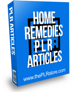 Home Remedies PLR Articles