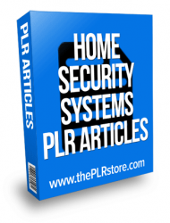 home security systems plr articles
