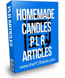 Homemade Candles PLR Articles