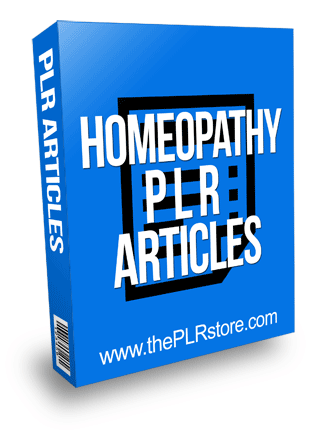 Homeopathy PLR Articles