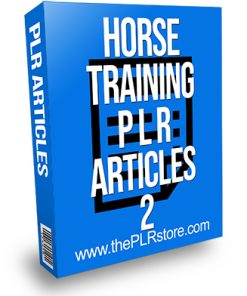 Horse Training PLR Articles 2