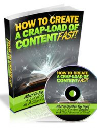 how to create a crap load of content fast plr ebook how to create a crap load of content fast plr ebook How To Create A Crap Load of Content Fast PLR Ebook how to create a crap load of content fast plr ebook 190x250