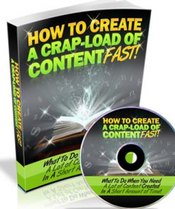 how to create a crap load of content fast plr ebook