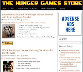 Hunger Games PLR Amazon Store Website hunger games plr amazon store website cover 327x283