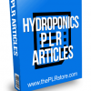 Hydroponics PLR Articles