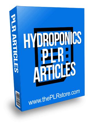 Hydroponics PLR Articles