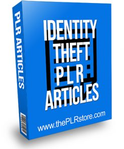 Identity Theft PLR Articles