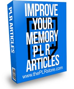 Improve Your Memory PLR Articles