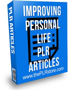 Improving Personal Life PLR Articles