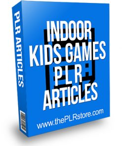 Indoor Kids Games PLR Articles