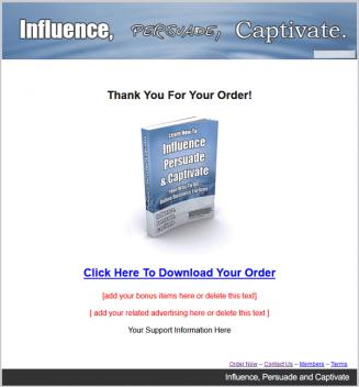 Influence Persuade And Captivate PLR Ebook