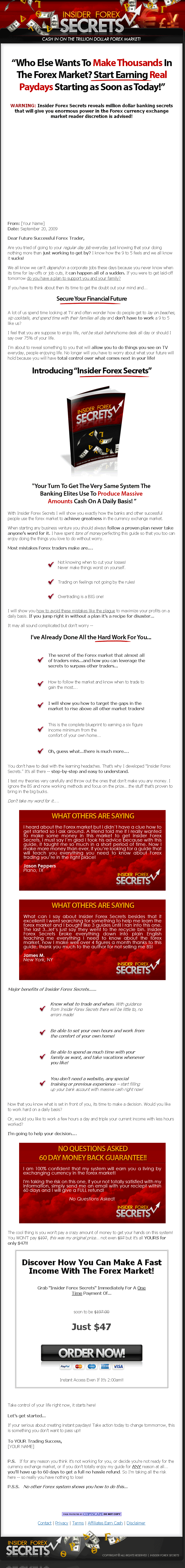 Forex secrets book