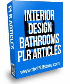 interior design bathrooms plr articles