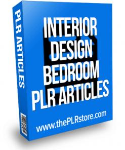 interior design bedroom plr articles