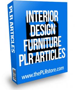 interior design furniture plr articles