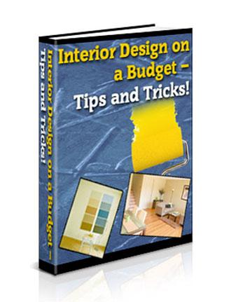 interior design on a budget plr ebook
