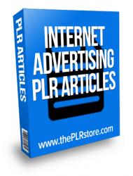 internet advertising plr articles