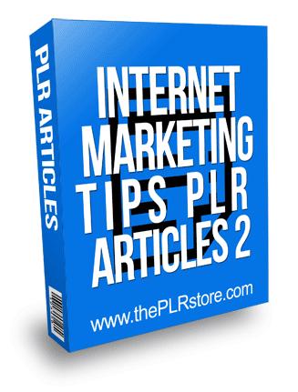 Internet Marketing Tips PLR Articles 2