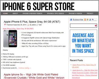 iPhone 6 PLR Amazon Turnkey Store Website iphone 6 plr amazon turnkey store website cover 327x261